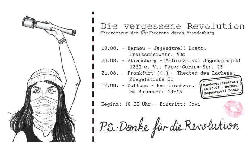 """21.08.2019 – Theatertour: """"Die vergessene Revolution"""""""